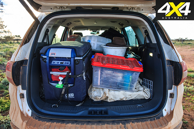 Ford everest spacious boot