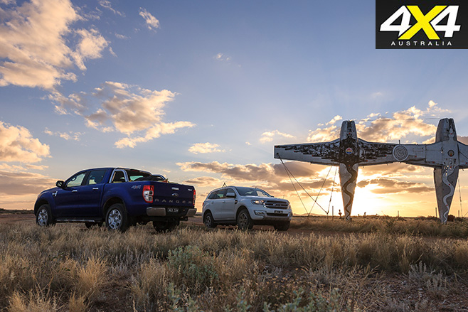Ford Everest Trend vs Ranger XLT side view