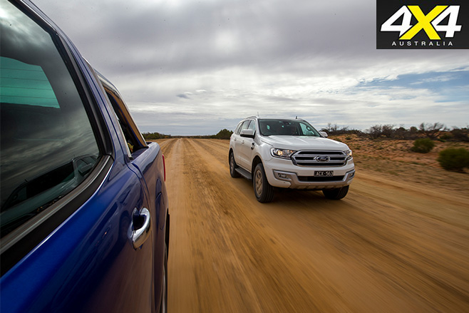 Ford Everest Trend vs Ranger XLT driving fast