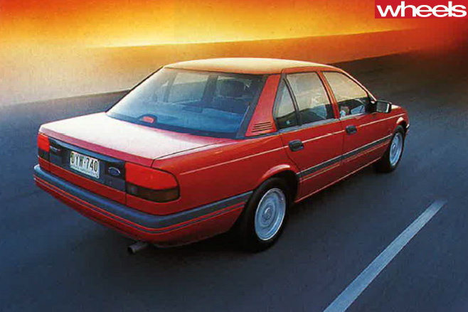 1989-ford -falcon -rear -driving