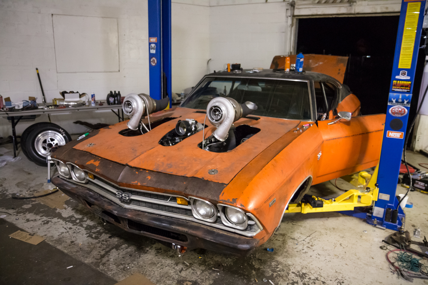 Chevelle Big Block Twin Turbo Drag Week 17