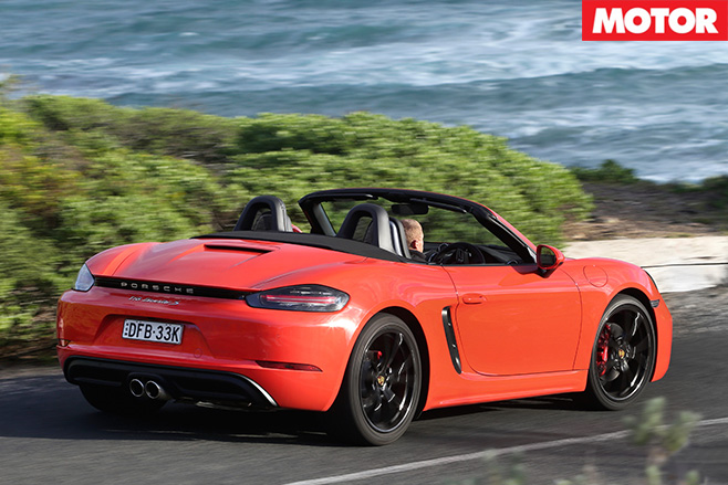 Porsche 718 Boxster Rear driving