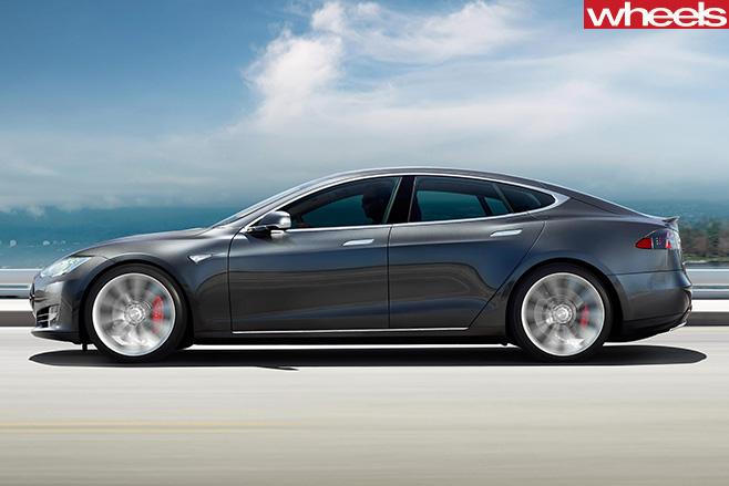 Tesla -Model -S-driving -side