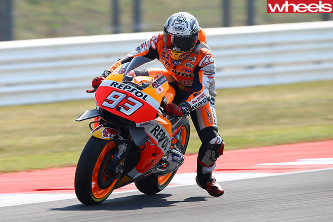 Motogp -Marc -Marquez -riding
