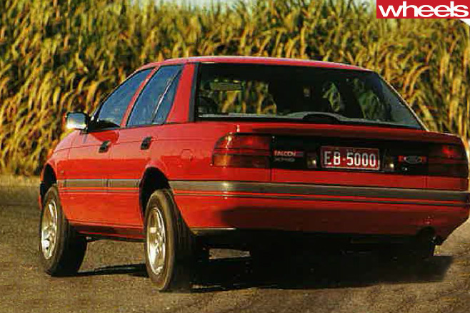 1991-Ford -Falcon -driving -rear