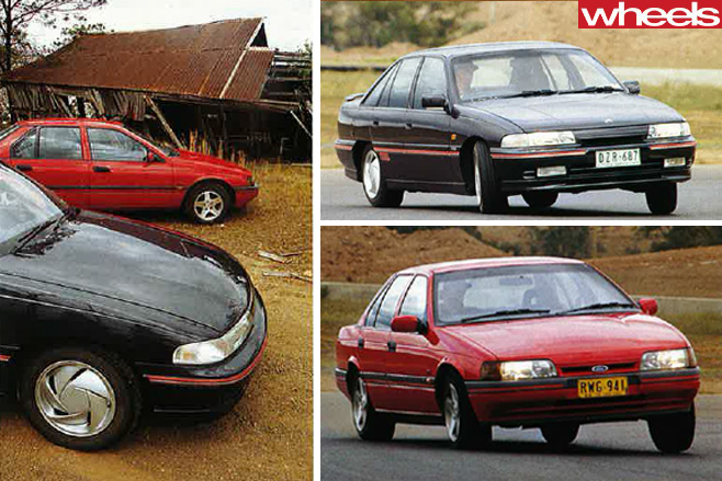 1992-Ford -Falcon -and -Holden -Commodore -comparison