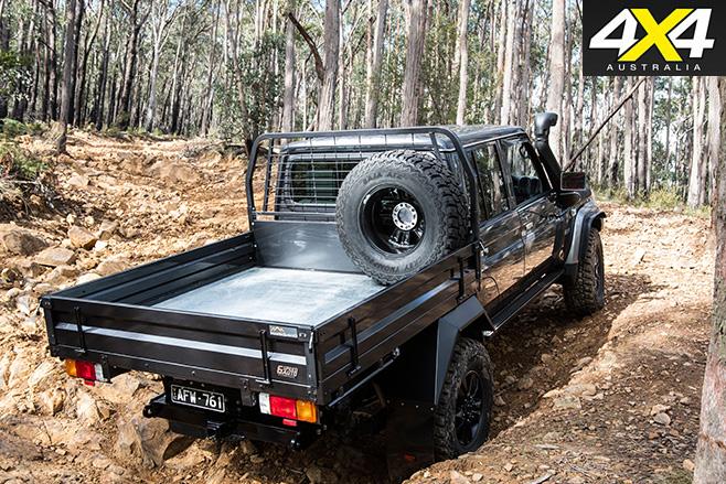 Toyota LandCruiser 79 rear uphill