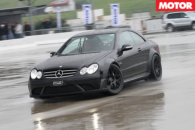 Merc cornering in wet