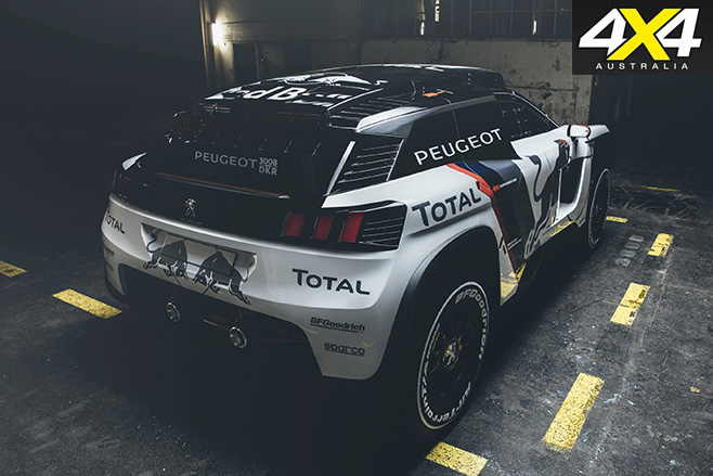 Peugeot 's -new -3008-DKR-rear -2