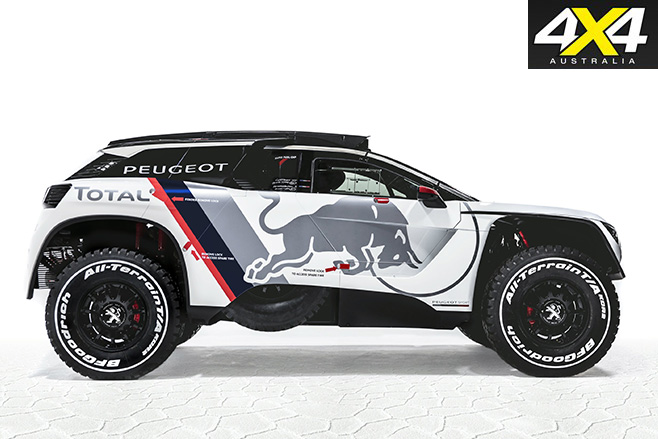 Peugeot's new 3008 DKR side