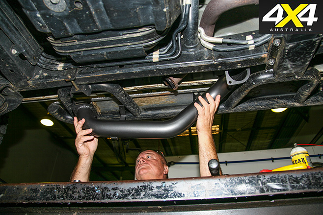 Taipan exhaust system product test installation