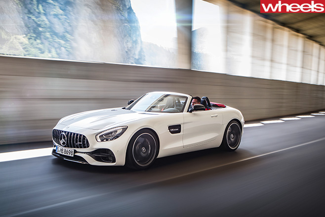 Mercedes -AMG-GT-driving -side