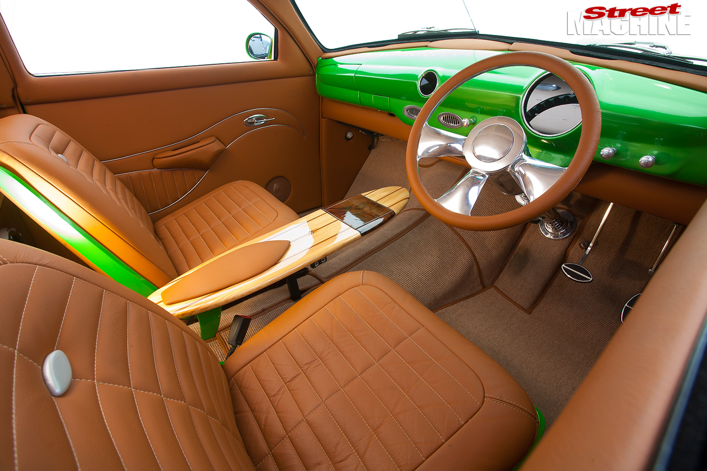 Ford -woody -interior -front