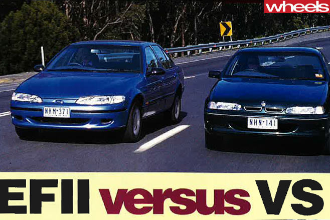 1995-Ford -EF-II-Falcon -vs -Holden -Commodore -VS