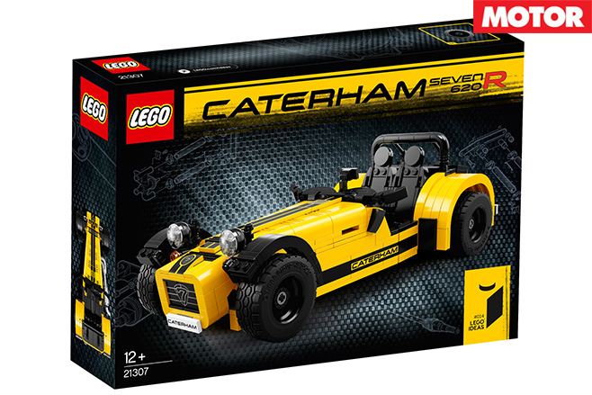 Lego reveal Caterham -Seven 620R box