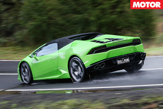 2016 Lamborghini Huracan Spyder Review rear