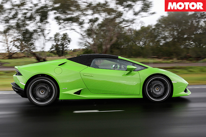 2016 Lamborghini Huracan Spyder side