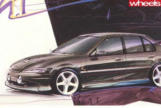 Ford -EL-Falcon -GT-drawing