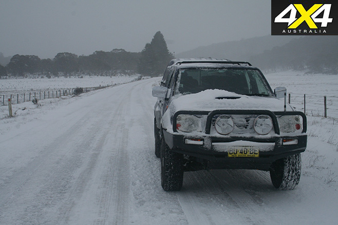 Navara in the snow