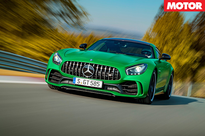 Mercedes-amg gt r driving