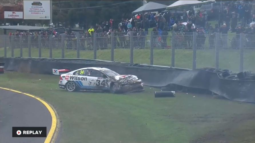 2016 Sandown 500 Volvo Crash