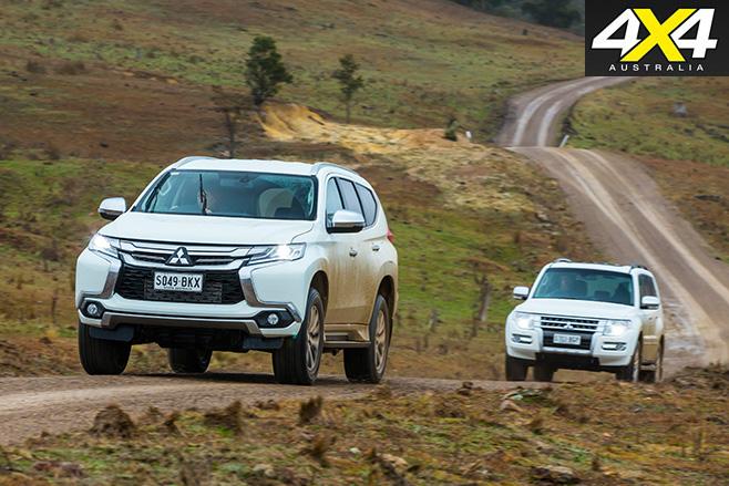 Mitsubishi Pajero vs Mitsubishi Pajero Sport driving