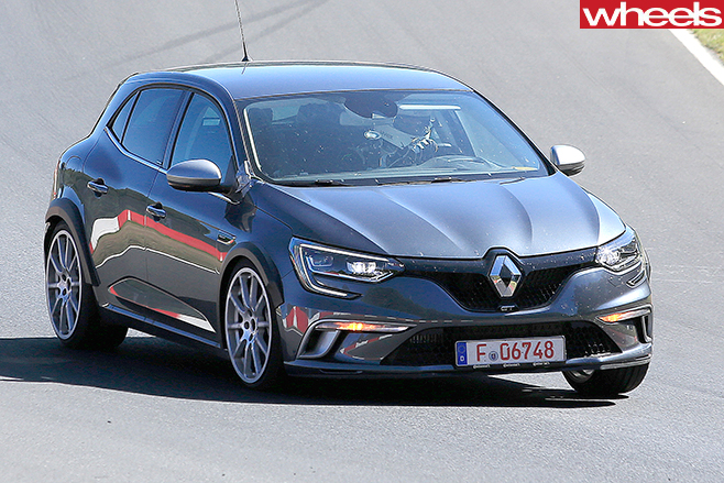 2018 renault megane rs spy pics wheels. Black Bedroom Furniture Sets. Home Design Ideas