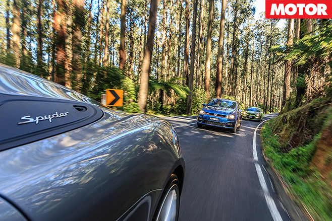 Vw polo gti driving with others