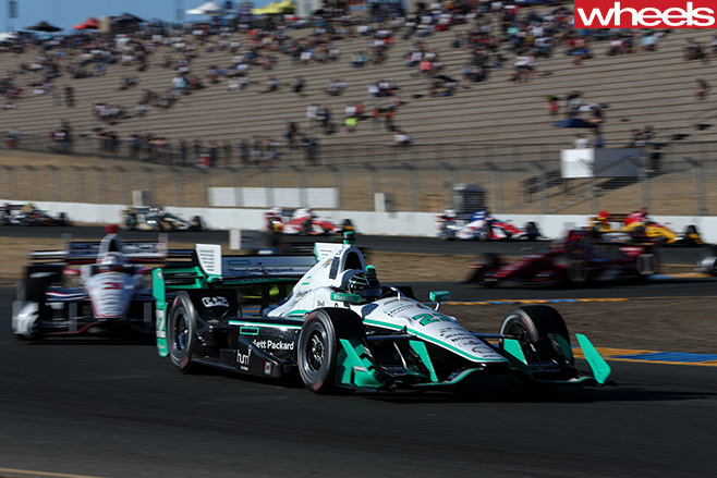 Indycar -race -car -driving -around -track