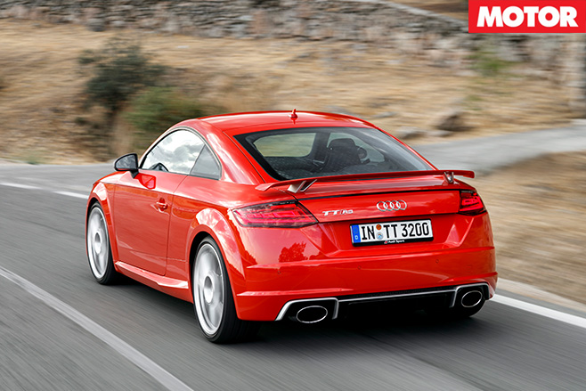 Audi TT RS rear driving