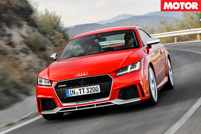 Audi TT RS front driving