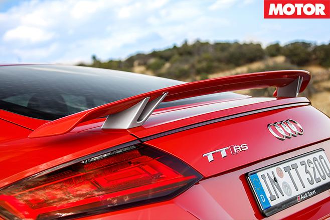 Audi TT RS rear spoiler