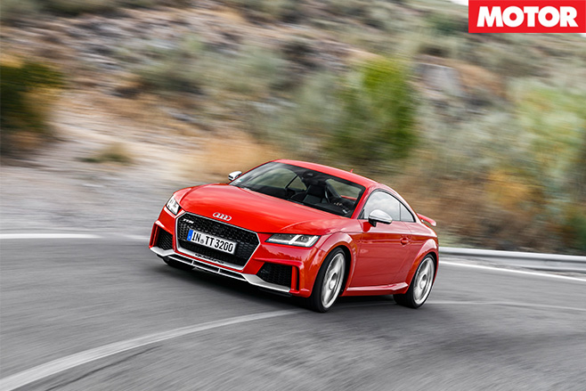 Audi TT RS front driving fast