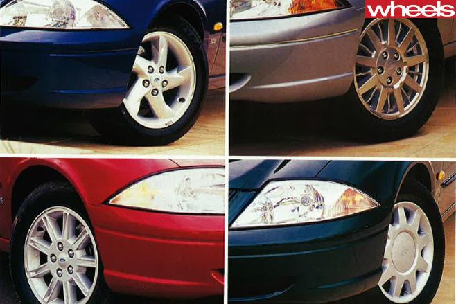 Ford -AU-Falcon -wheel -design -changes