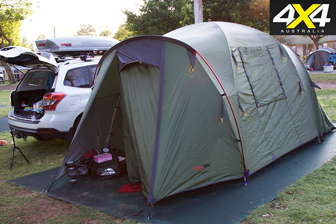 Black wolf tent assembled