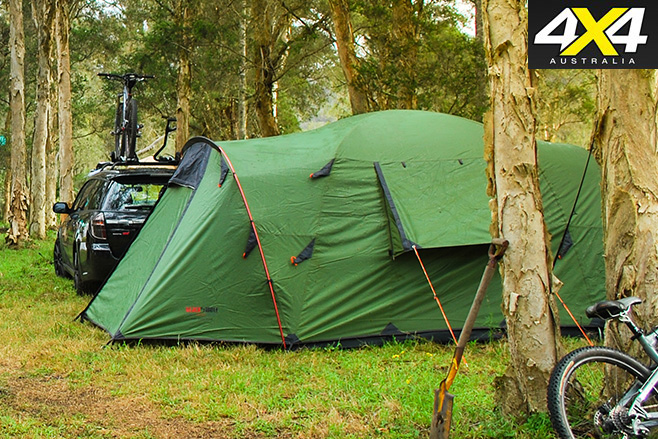 Black wolf tent assembled -1 & Black Wolf Tuff Dome Plus: Product test | 4X4 Australia