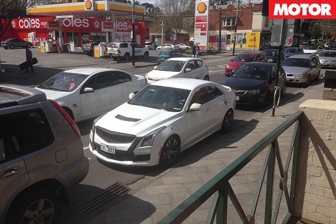 Cadillac ATS-V parked