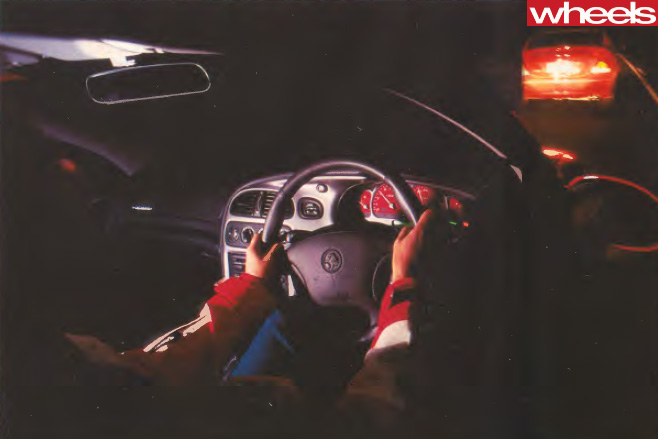 2001-Holden -Commodore -interior -driving