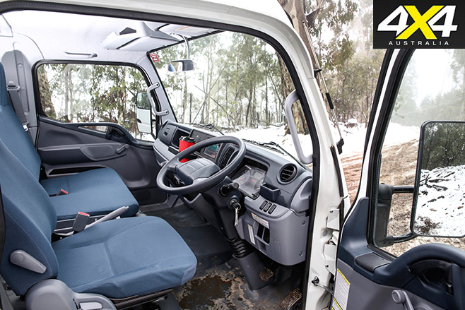Fuso Canter 4x4 interior