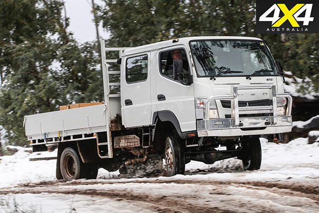 Fuso Canter offroad driving