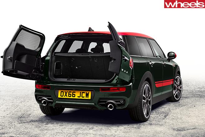 2017-mini -clubman -jcw -rear -static -doorsopen