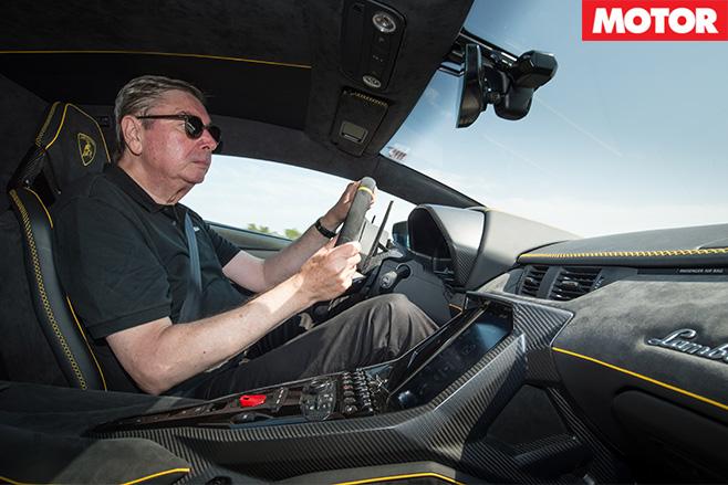 George driving Centenario