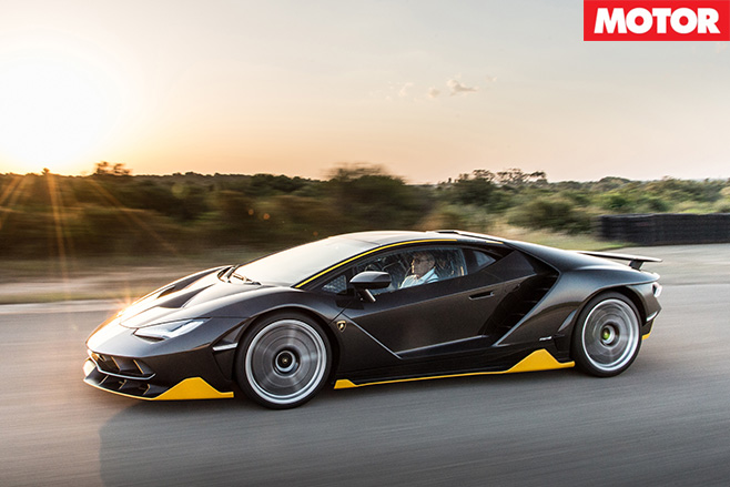 Lamborghini Centenario driving side