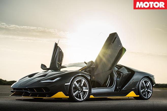 Lamborghini Centenario doors open