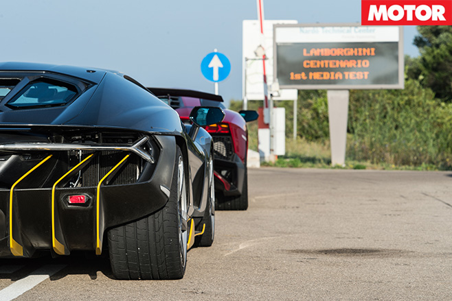 Lamborghini centenario first test
