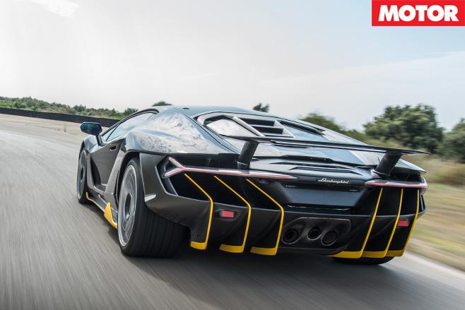 Lamborghini Centenario driving fast