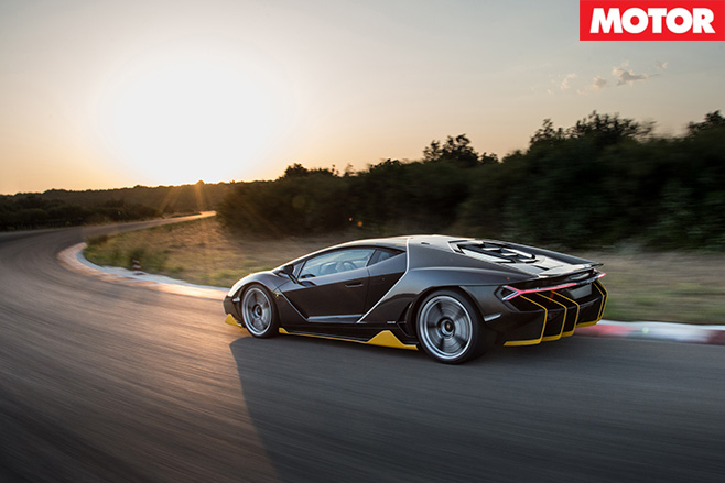 Beautiful Lamborghini Centenario driving