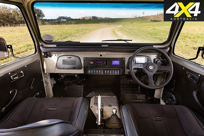 Custom Toyota FJ45 Troop Carrier interior