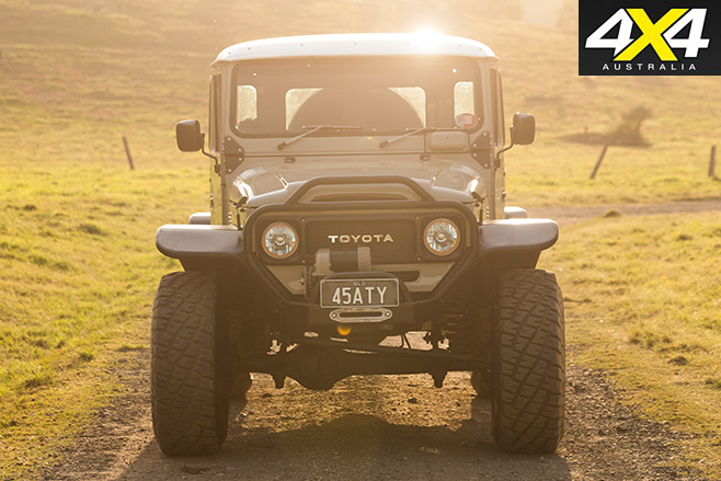 Custom Toyota FJ45 Troop Carrier front