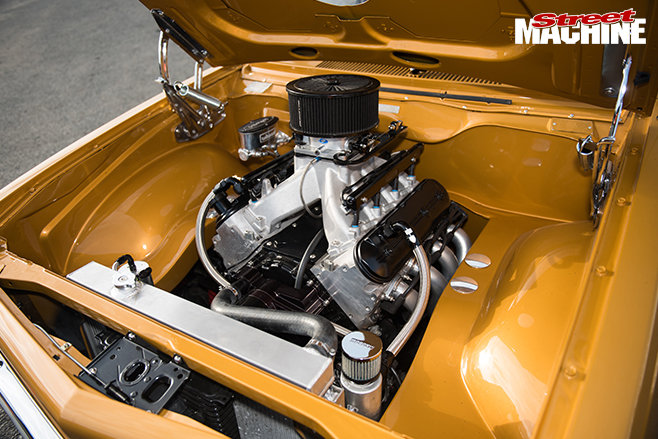 Performance car mania gold holden LX engine bay